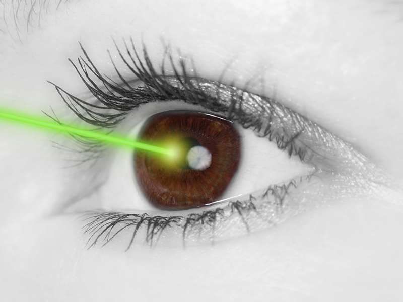 Impaired vision can be corrected with eye lasers